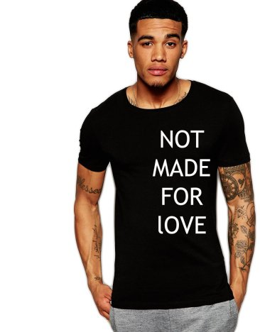 Tricou negru barbati  - Not made for love